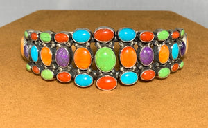 Multi-stone Cuff by Don Lucas