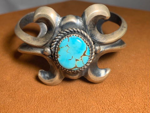 Copy of Heart Turquoise Cuff by Reginald Mitchell