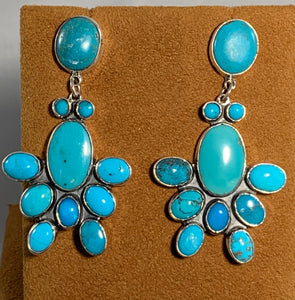 Water Bug Turquoise Earrings by Federico Jimenez