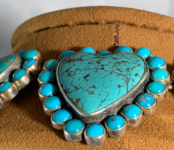 TURQUOISE HEART NECKLACE BY Federico Jimenez