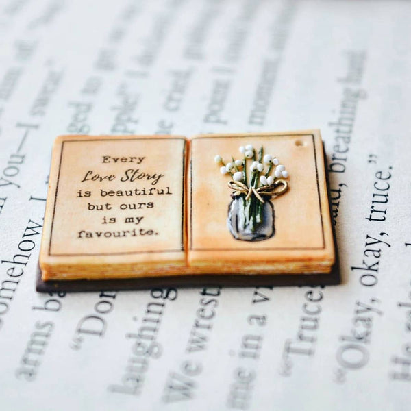 Every love story is beautiful, but ours is my favourite - Anonymous Quote Book Page Pendant