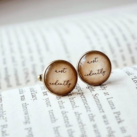 Most Ardently - Darcy Quote Cufflinks