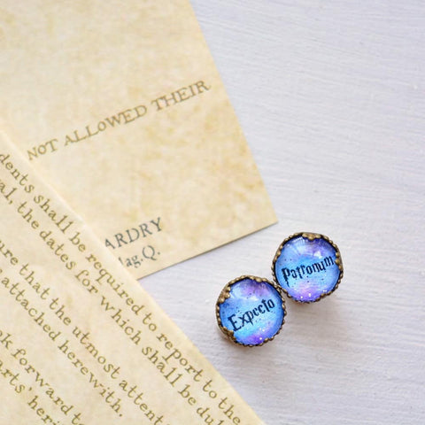 Expecto Patronum - Harry Potter Spell Earrings