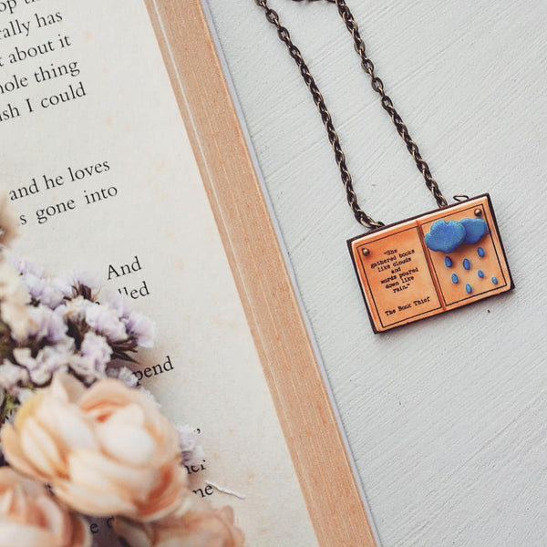 The Book Thief Quote Book Page Pendant