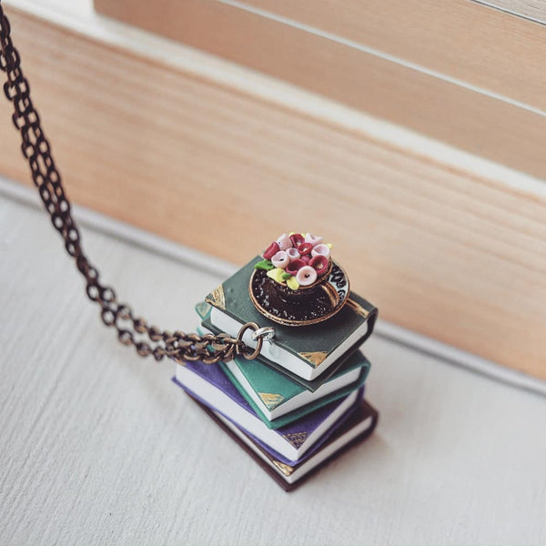 Vertical Stack of Books - Pendant
