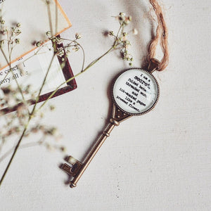 Bookish Quote Key Collectible