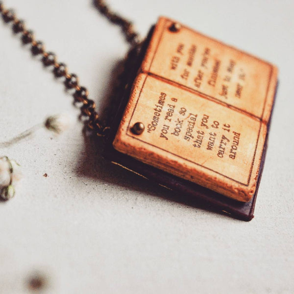 Sometimes you read a book so special - Markus Zusak, The Book Thief Book Page Pendant
