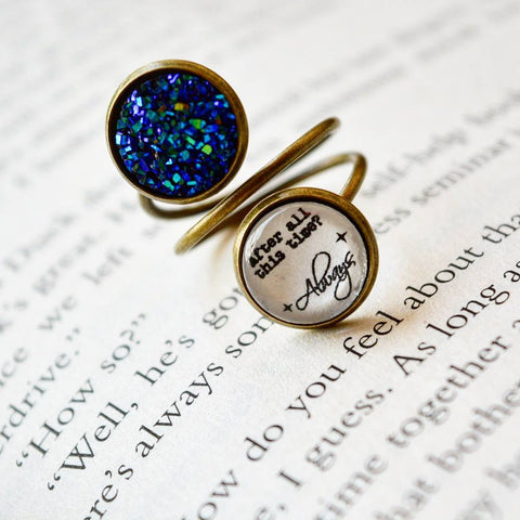 After all this time? Always - Harry Potter Quote Spiral Ring