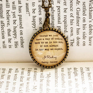 Things we lose - Luna Lovegood Quote Pendant