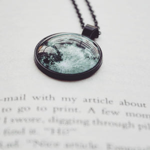 Moon picture locket/necklace