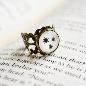 The Three Stars - Harry Potter Adjustable Ring