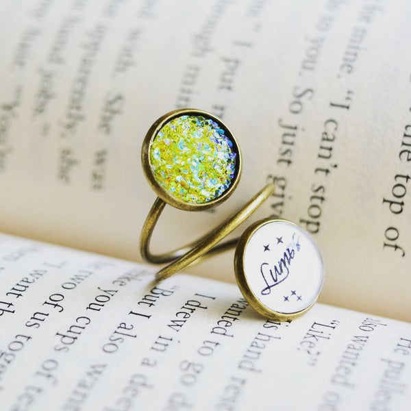 Lumos- Harry Potter Spell Spiral Ring