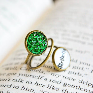 Slytherin House Harry Potter Spiral Ring
