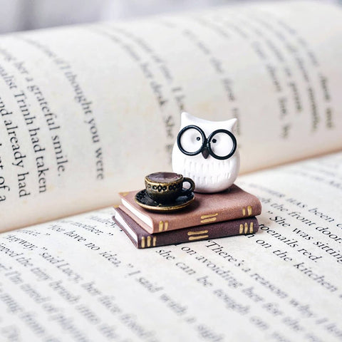 Nerdy Owl with Books Collectible