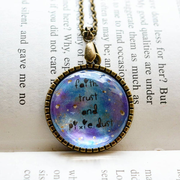 Faith, Trust and Pixie Dust - Peter Pan Necklace