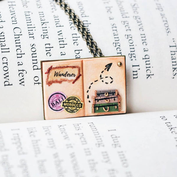 Wanderer - Quote Book Page Pendant