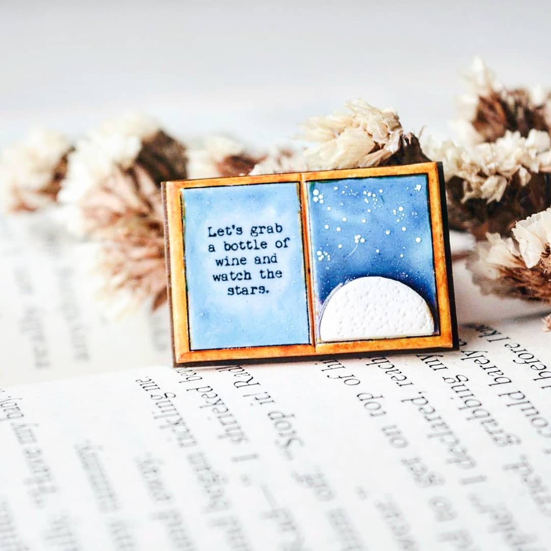 Let's grab a bottle of wine ..- Quote Book Page Pendant