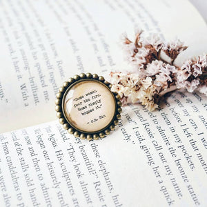 Some women fear the fire, some women simply become it - r.h.Sin Quote Adjustable Ring