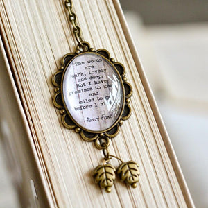The woods are lovely.. - Robert Frost Quote Bookmark