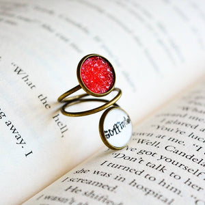 Gryffindor House -Harry Potter Spiral Adjustable Ring