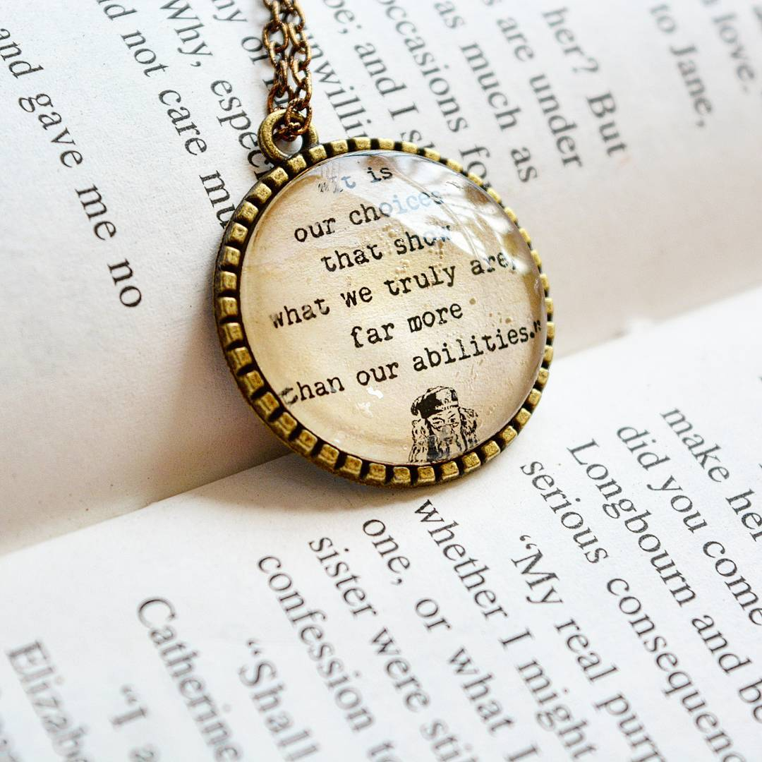 It is our choices - Albus Dumbledore Picture Quote Pendant