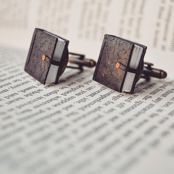 Faux Leather Diary Cufflinks