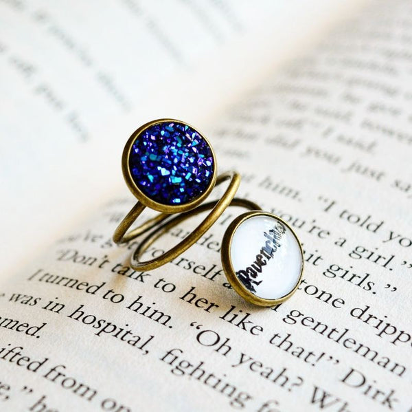 Ravenclaw House -Harry Potter Spiral Adjustable Ring