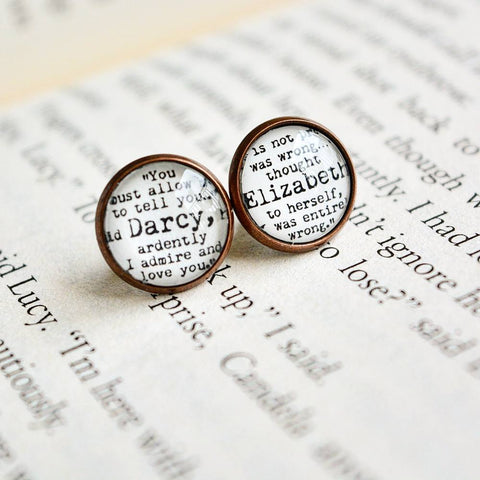 Darcy-Elizabeth Quote Earrings
