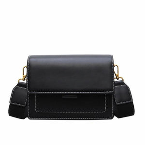 Luxury Contrast Leather Crossbody Bag
