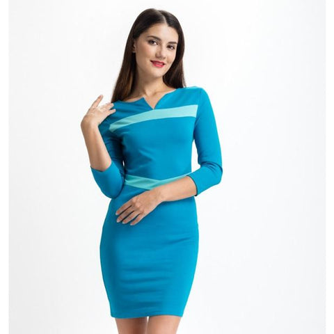 Blue Day to Night Dress