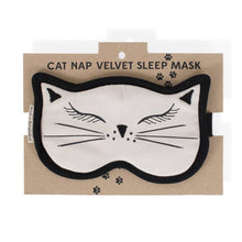 Cat Nap Velvet Sleep Mask - Global Hues Market