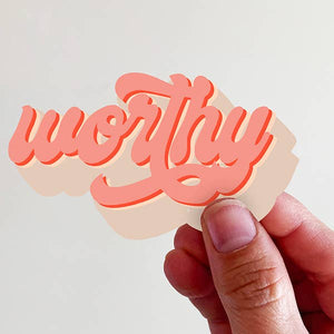 Worthy Vinyl Sticker - Global Hues Market