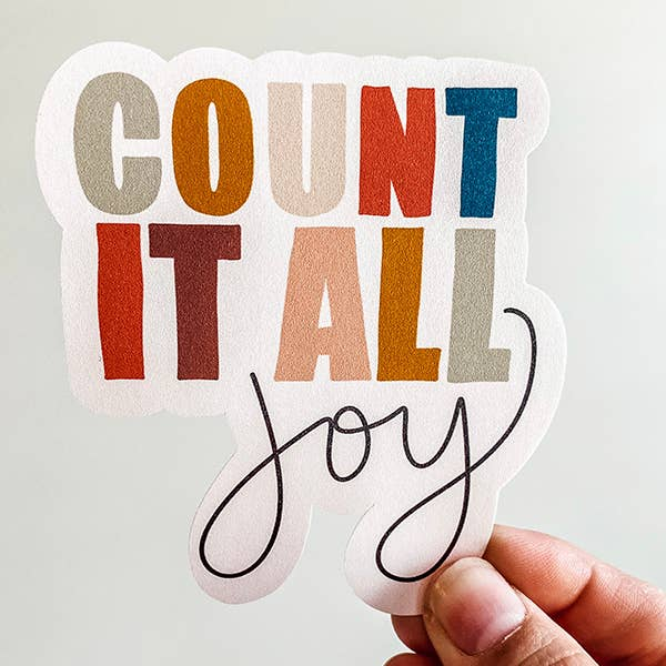 Count it all Joy Vinyl Sticker - Global Hues Market