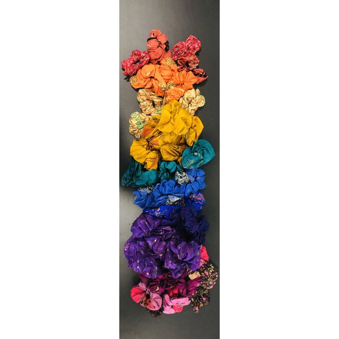 Silk Sari Scrunchies - Global Hues Market