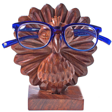 Peacock Eyeglass Holder - Global Hues Market