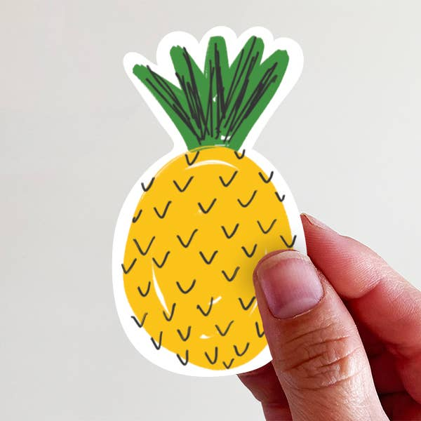Pineapple Vinyl Sticker - Global Hues Market