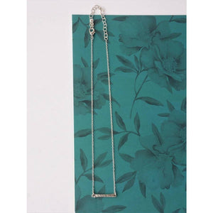 Ladder Rung Bar Necklace {silver} - Global Hues Market