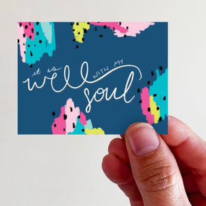 It is Well With My Soul Vinyl Sticker - Global Hues Market