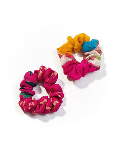 Sari Scrunchies {set of two} - Global Hues Market