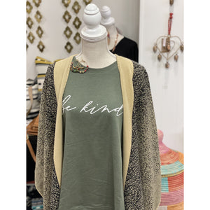 Be Kind Sweatshirt {military green} - Global Hues Market