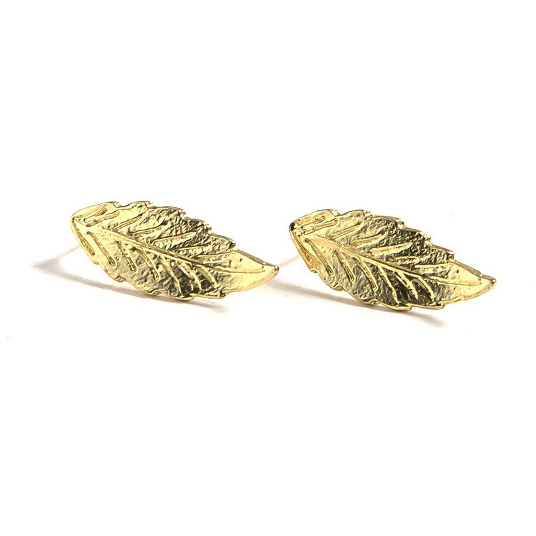 Foliage Studs {gold} - Global Hues Market