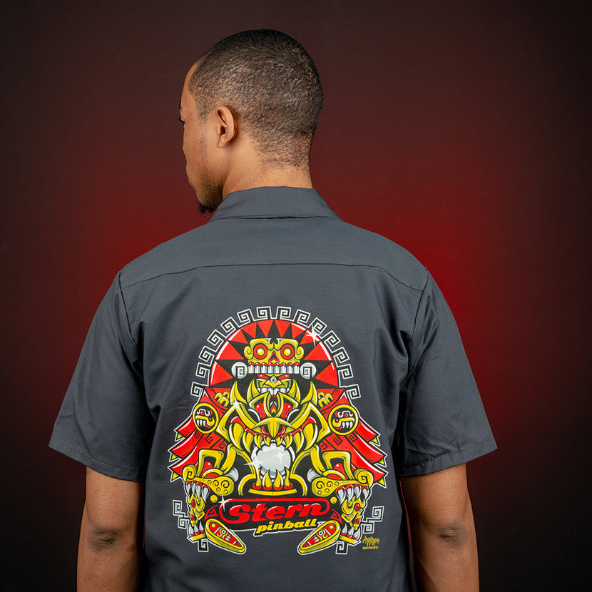 "Limited Edition ""Aztec Guardian of the Silver Ball"" Work Shirt"