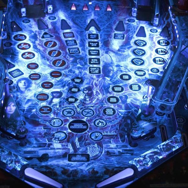Playfield while UV Kit is Illuminated