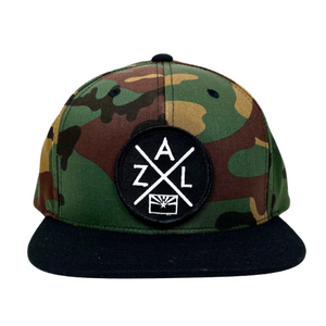 AZL camouflage 6 panel snapback hat