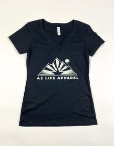 Womens AZ Life Mountains V-Neck