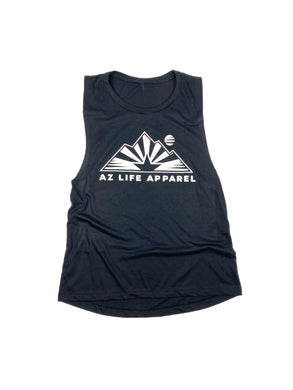 AZ Life Mountains Womens Festival Tank (black)