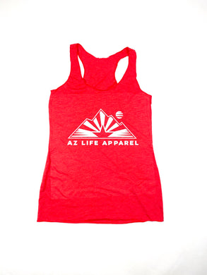 AZ Life Mountains Womens Tank (Red)