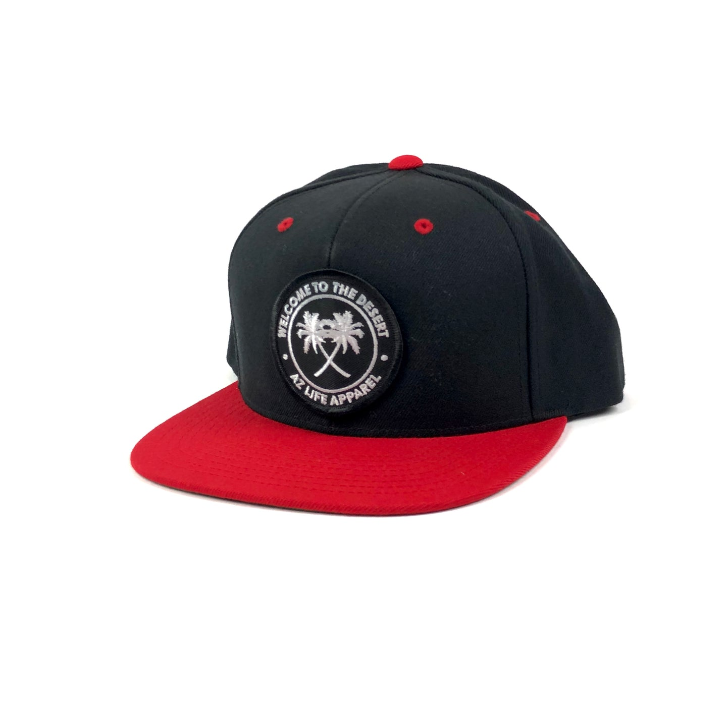Welcome To The Desert Black/Red 6 Panel Snapback Hat
