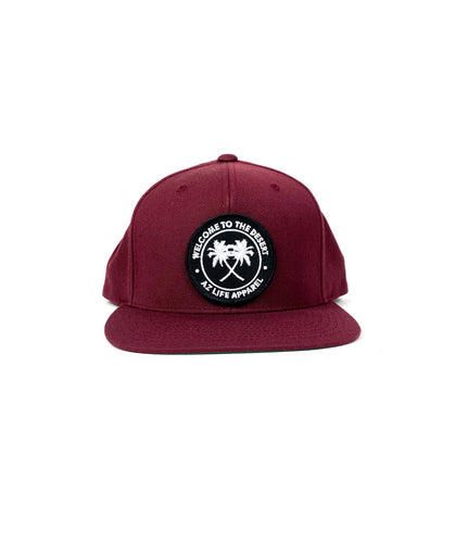 Welcome To The Desert Maroon 6 panel snapback hat