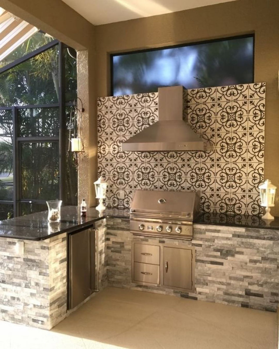 Custom Backsplash, Striking Black Granite, Enclosed Patio ... on Backsplash For Black Granite  id=56091
